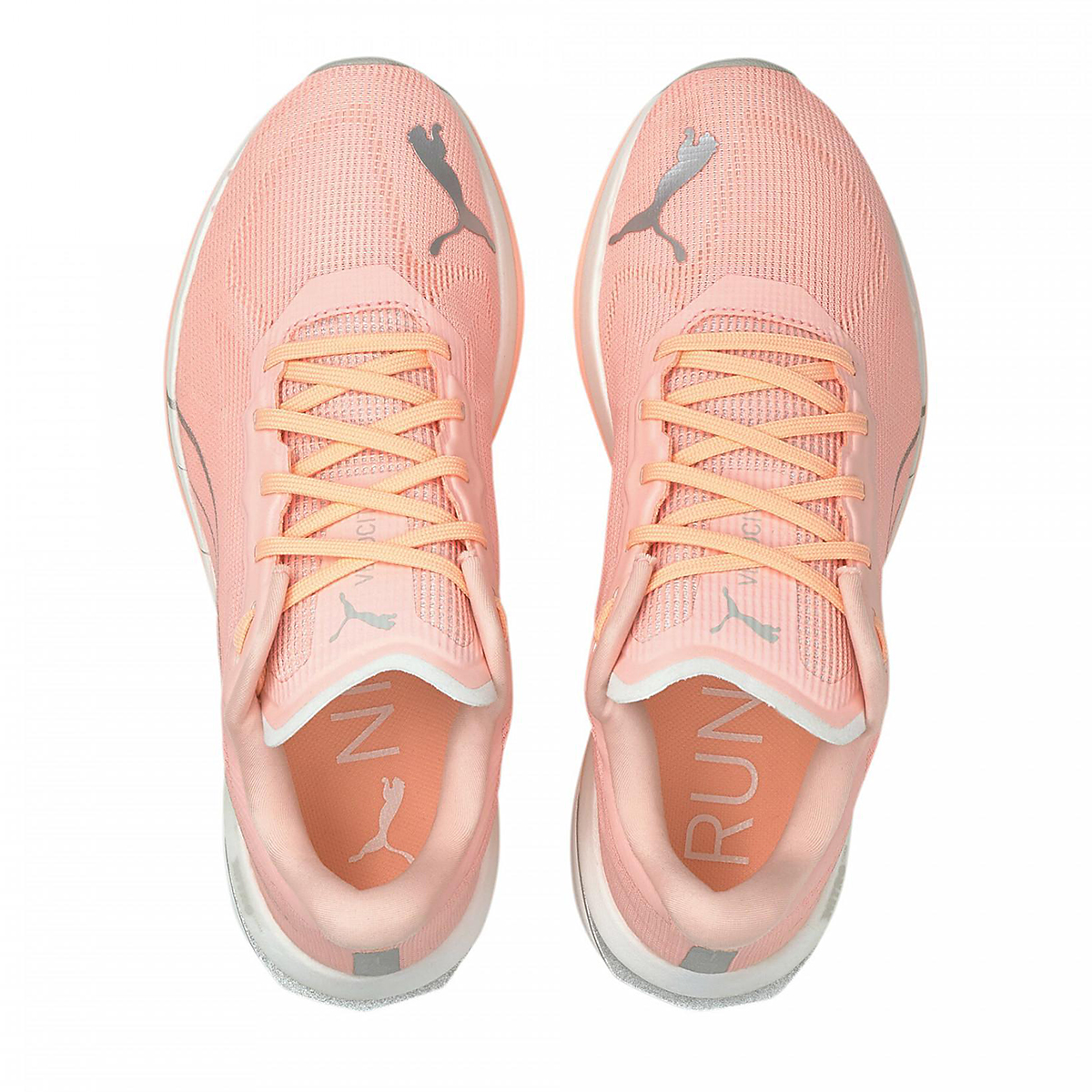 Women's Puma Velocity Nitro Running Shoe - Color: Elektro Peach-Puma Silver - Size: 5.5 - Width: Regular, Elektro Peach-Puma Silver, large, image 4