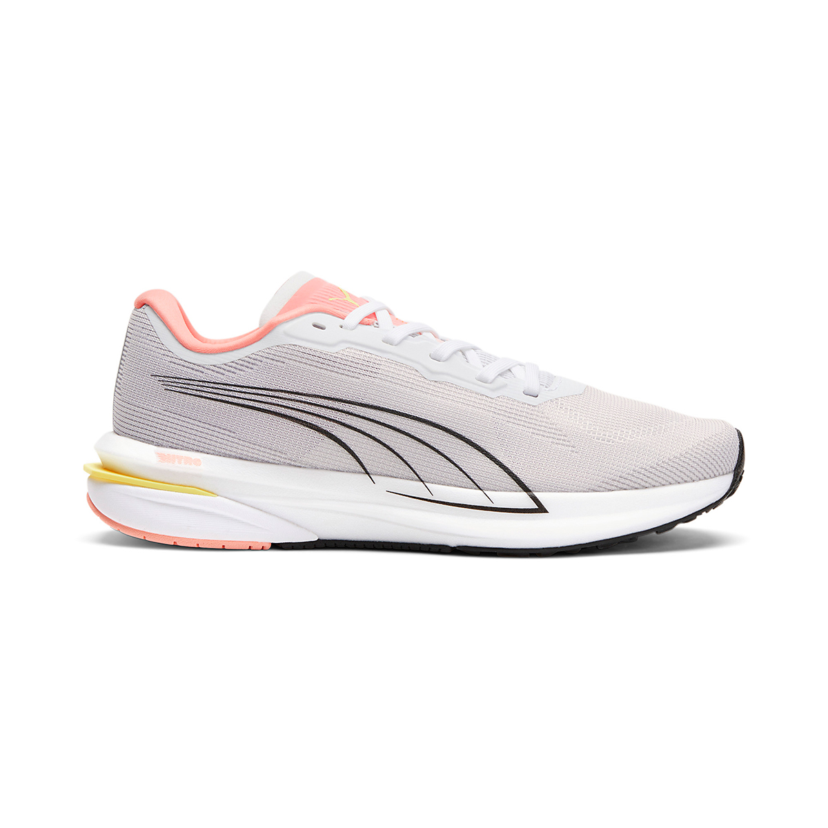 Women's Puma Velocity Nitro Running Shoe - Color: Puma White - Size: 5.5 - Width: Regular, Puma White, large, image 1