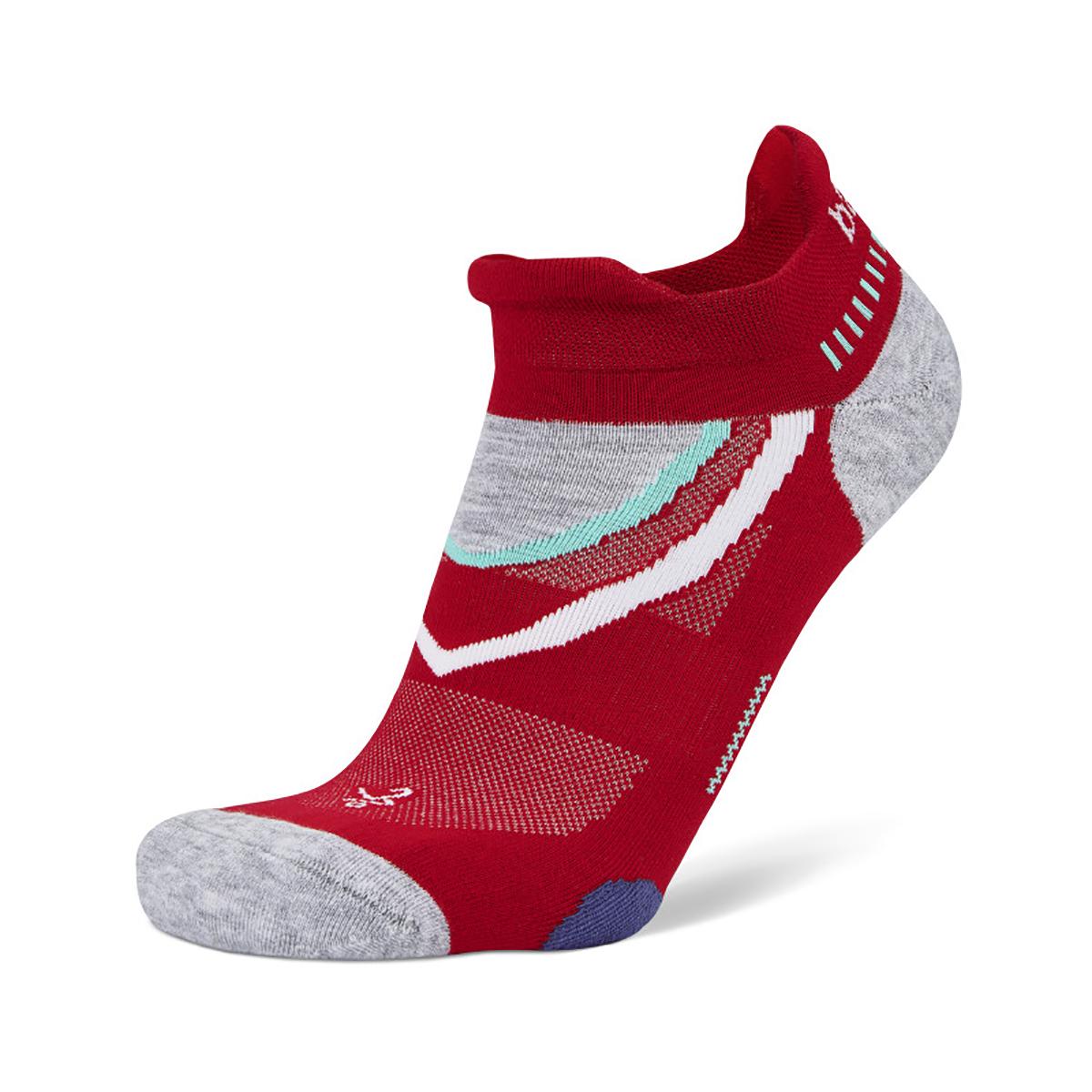 Balega UltraGlide Running Socks - Color: Bright Red/ Midgrey - Size: S, Bright Red/ Midgrey, large, image 1