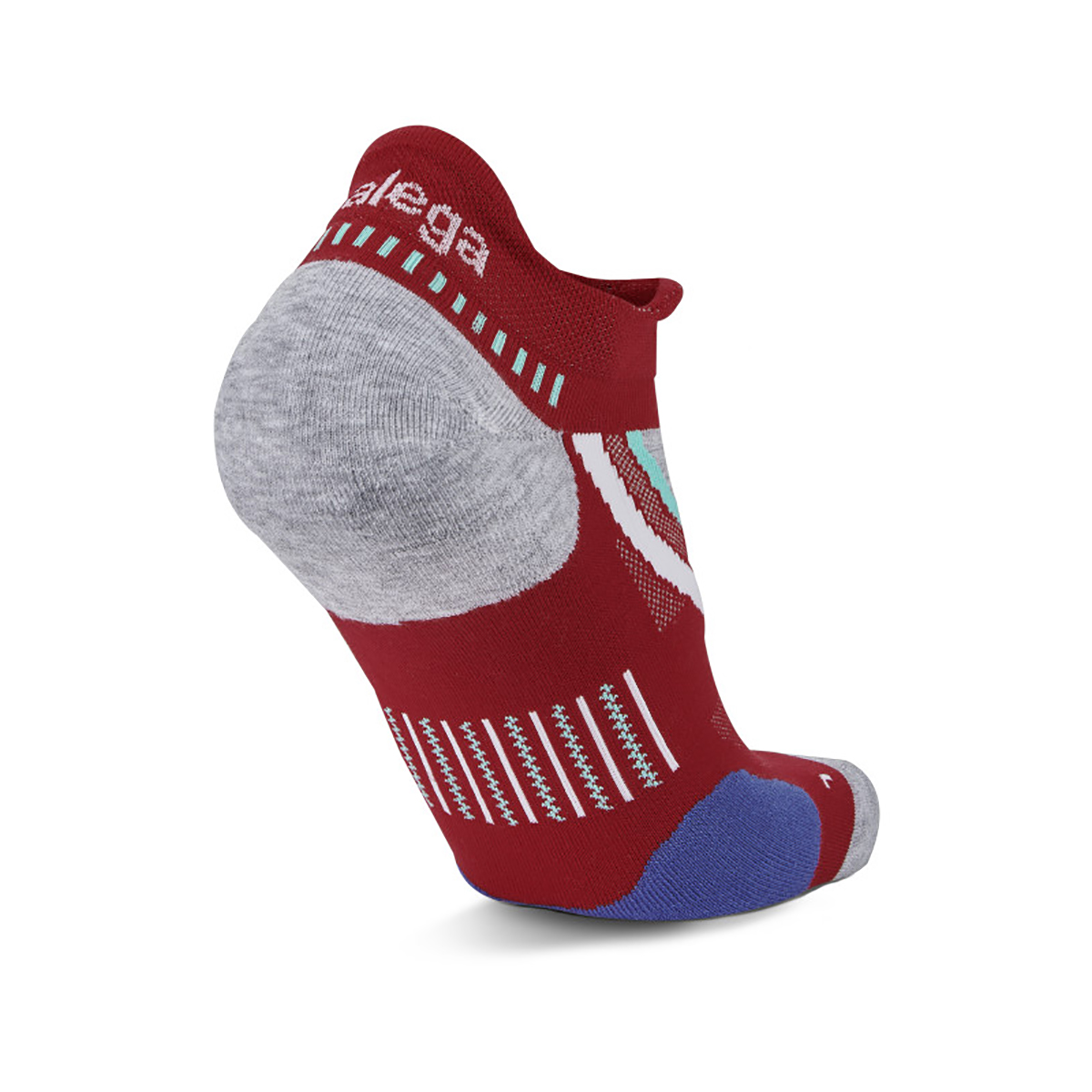 Balega UltraGlide Running Socks - Color: Bright Red/ Midgrey - Size: S, Bright Red/ Midgrey, large, image 3