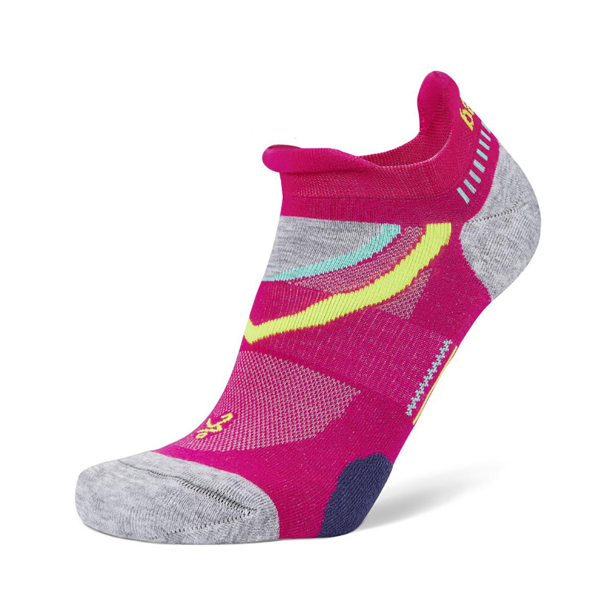 Balega UltraGlide Running Socks - Color: Electric Pink/ Midgrey - Size: S, Electric Pink/ Midgrey, large, image 1