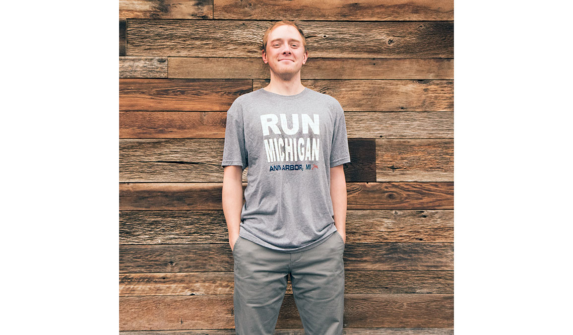 Men's Ouray Run Michigan Ann Arbor Tee - Color: Heather Size: L, Heather, large, image 2