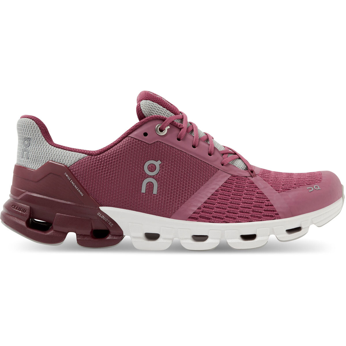 Women's On Cloudflyer 2.0 Running Shoe - Color: Magenta/Mulberry - Size: 5 - Width: Regular, Magenta/Mulberry, large, image 1