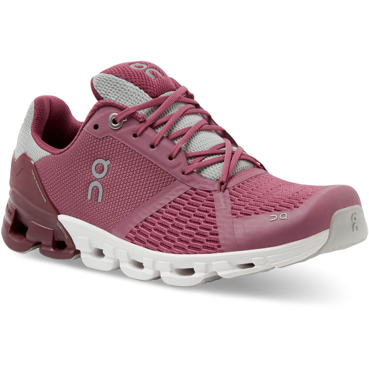 Women's On Cloudflyer 2.0 Running Shoe - Color: Magenta/Mulberry - Size: 5 - Width: Regular, Magenta/Mulberry, large, image 2