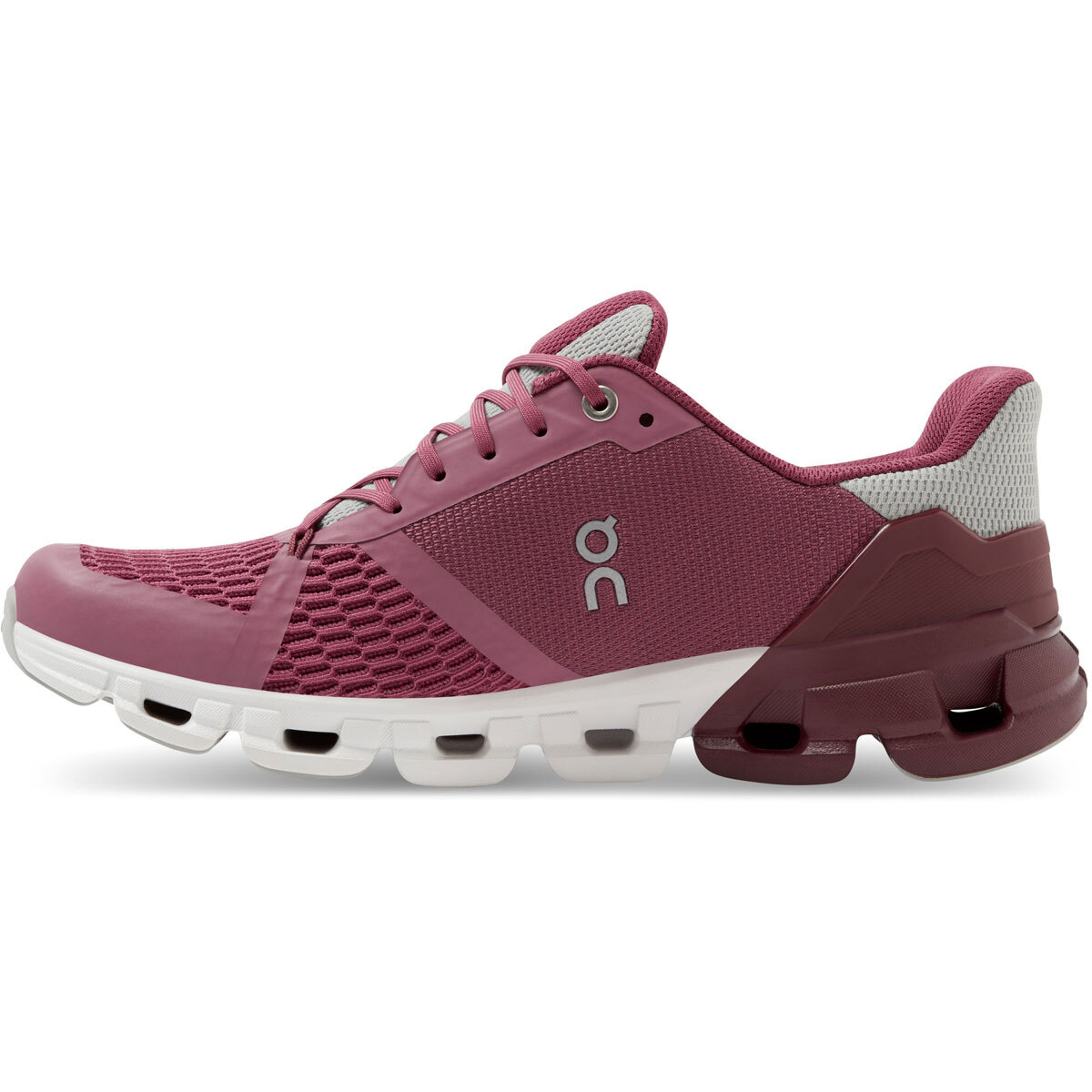 Women's On Cloudflyer 2.0 Running Shoe - Color: Magenta/Mulberry - Size: 5 - Width: Regular, Magenta/Mulberry, large, image 3