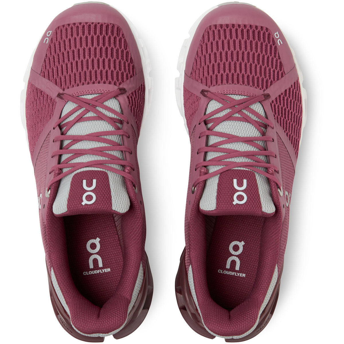 Women's On Cloudflyer 2.0 Running Shoe - Color: Magenta/Mulberry - Size: 5 - Width: Regular, Magenta/Mulberry, large, image 4