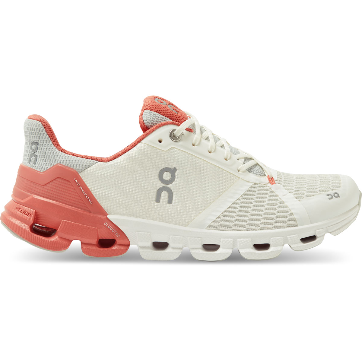 Women's On Cloudflyer 2.0 Running Shoe - Color: White/Coral - Size: 5 - Width: Regular, White/Coral, large, image 1