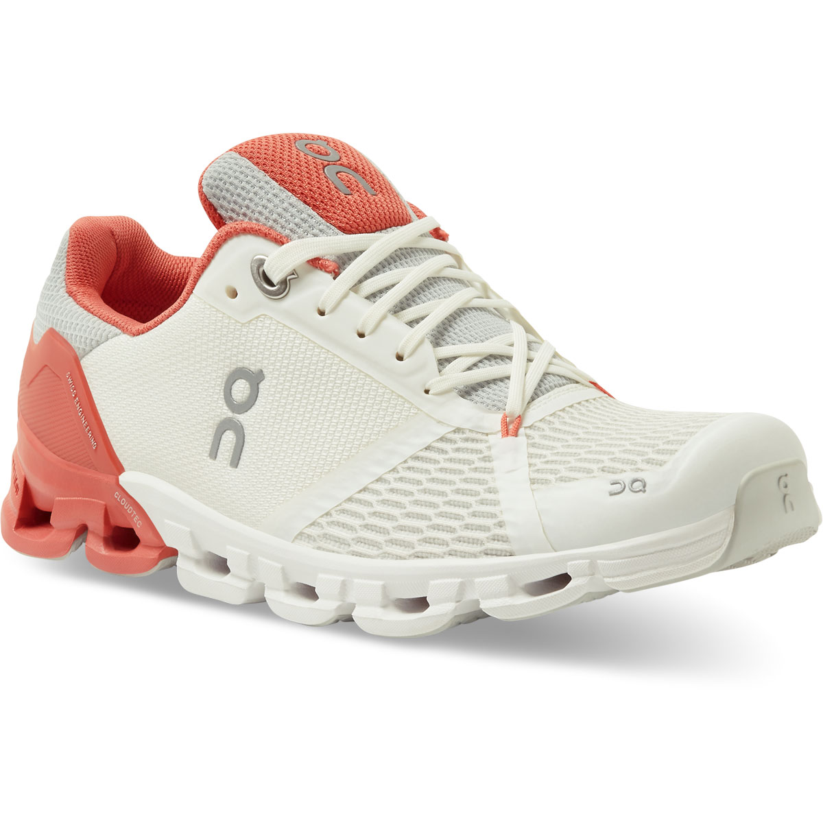 Women's On Cloudflyer 2.0 Running Shoe - Color: White/Coral - Size: 5 - Width: Regular, White/Coral, large, image 2