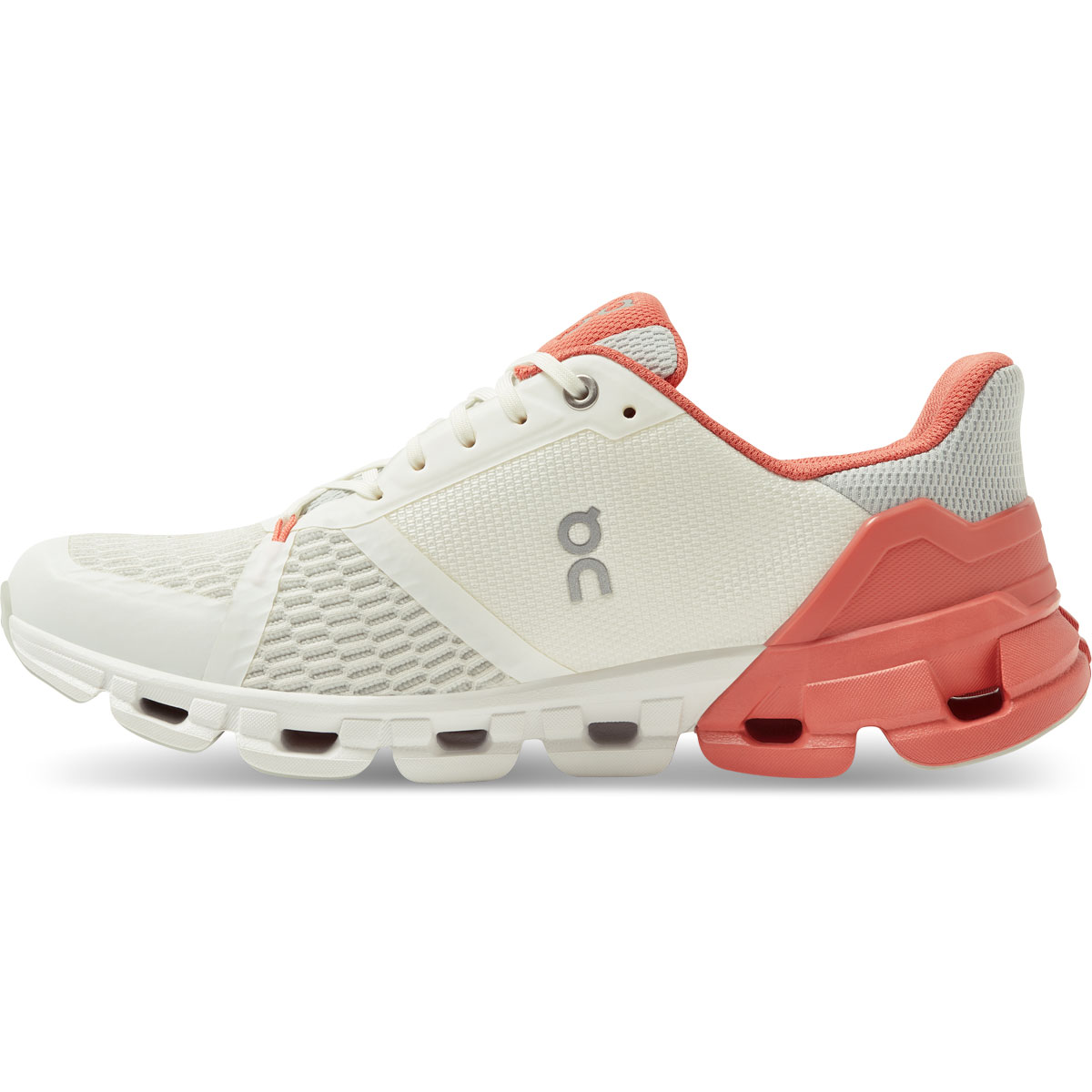 Women's On Cloudflyer 2.0 Running Shoe - Color: White/Coral - Size: 5 - Width: Regular, White/Coral, large, image 3