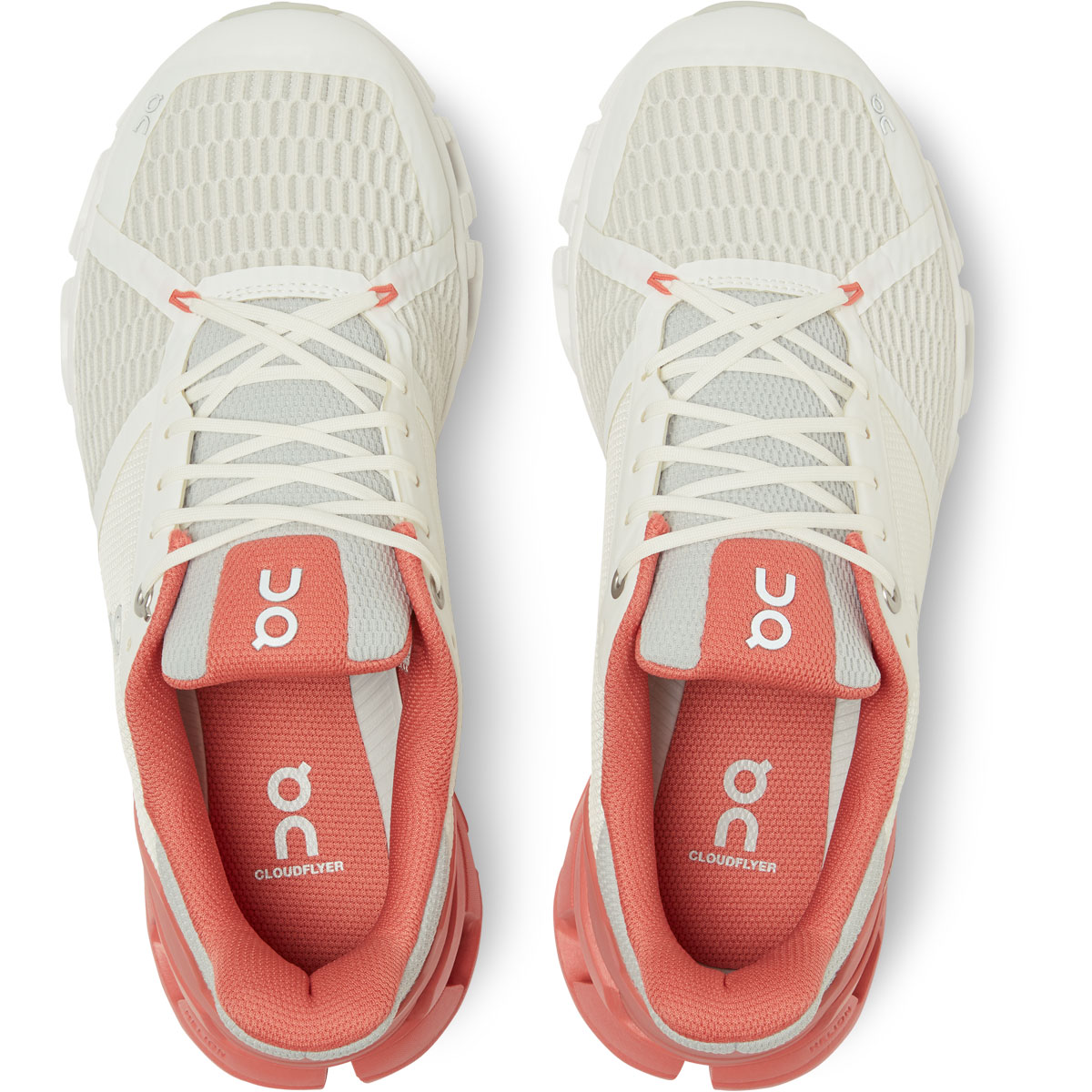 Women's On Cloudflyer 2.0 Running Shoe - Color: White/Coral - Size: 5 - Width: Regular, White/Coral, large, image 4
