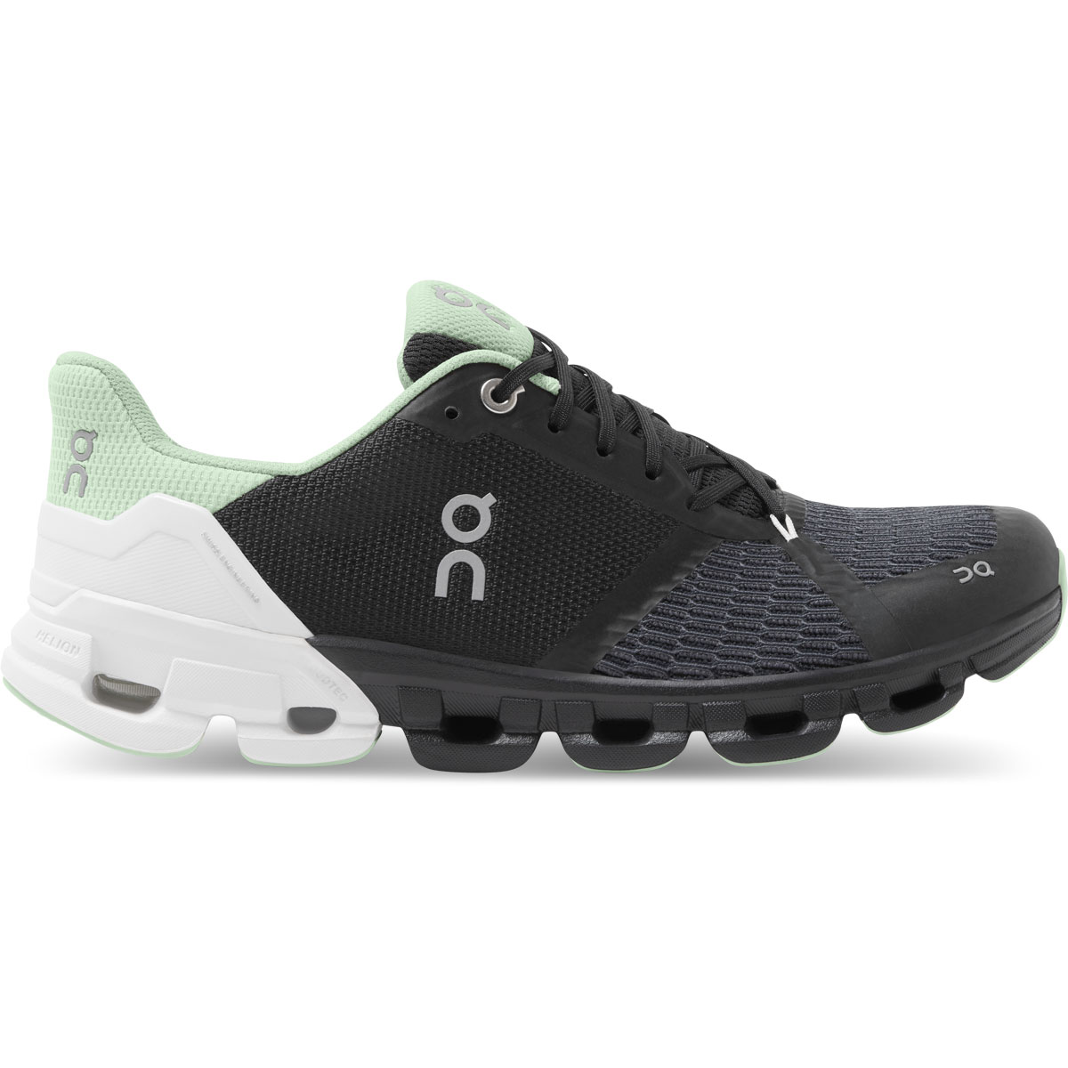 Women's On Cloudflyer 2.0 Running Shoe - Color: Black/White - Size: 5 - Width: Regular, Black/White, large, image 1
