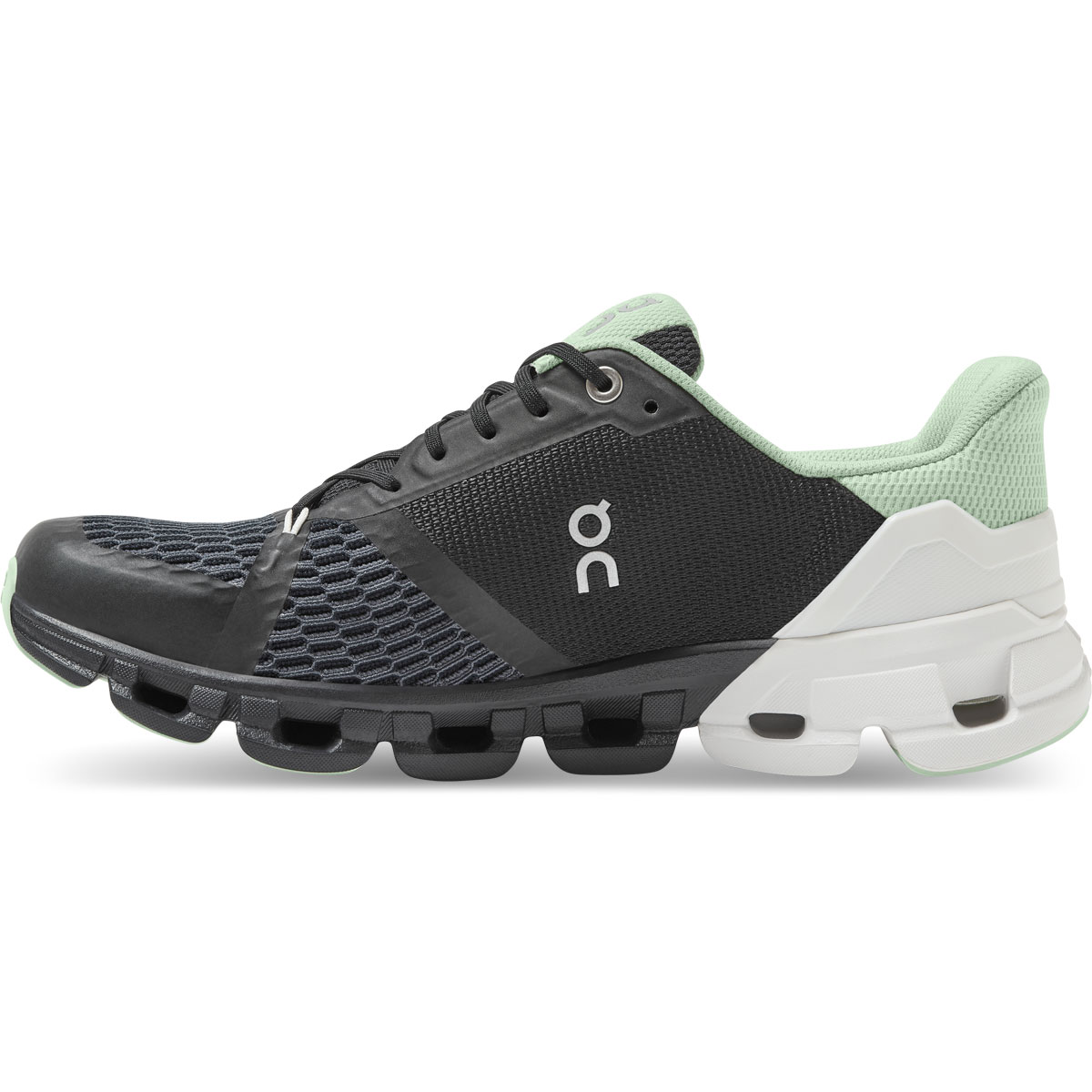 Women's On Cloudflyer 2.0 Running Shoe - Color: Black/White - Size: 5 - Width: Regular, Black/White, large, image 3