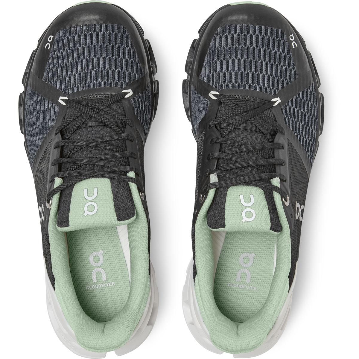 Women's On Cloudflyer 2.0 Running Shoe - Color: Black/White - Size: 5 - Width: Regular, Black/White, large, image 4