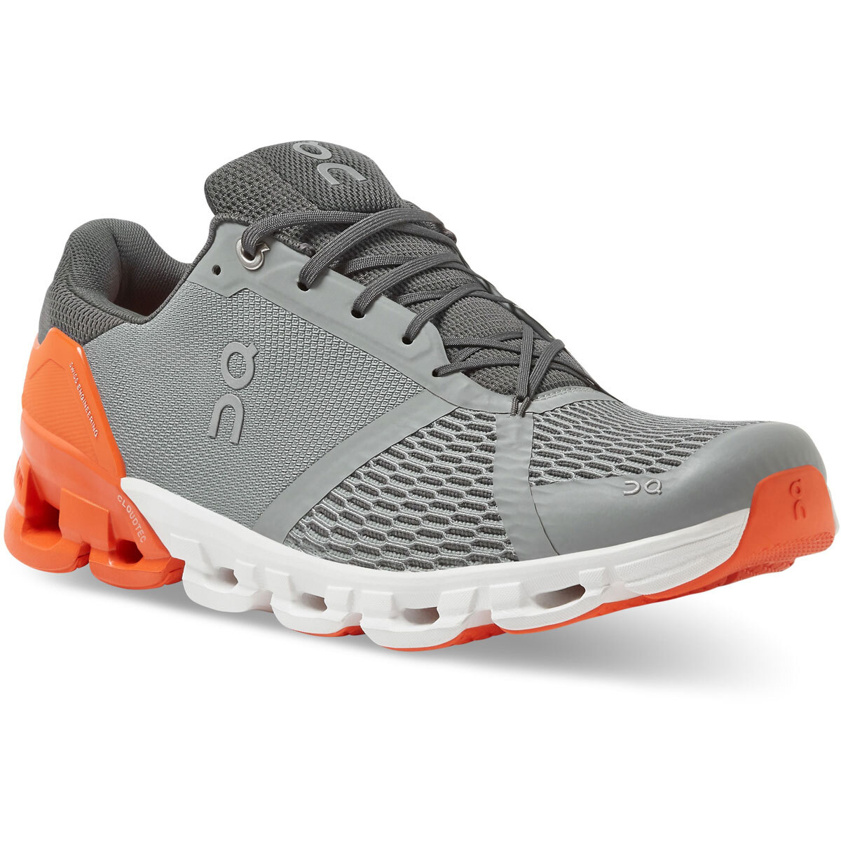 Men's On Cloudflyer 2.0 Running Shoe - Color: Grey/Orange - Size: 9 - Width: Regular, Grey/Orange, large, image 2
