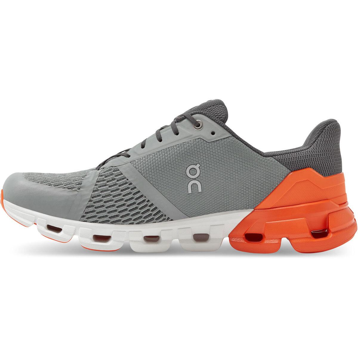 Men's On Cloudflyer 2.0 Running Shoe - Color: Grey/Orange - Size: 9 - Width: Regular, Grey/Orange, large, image 3