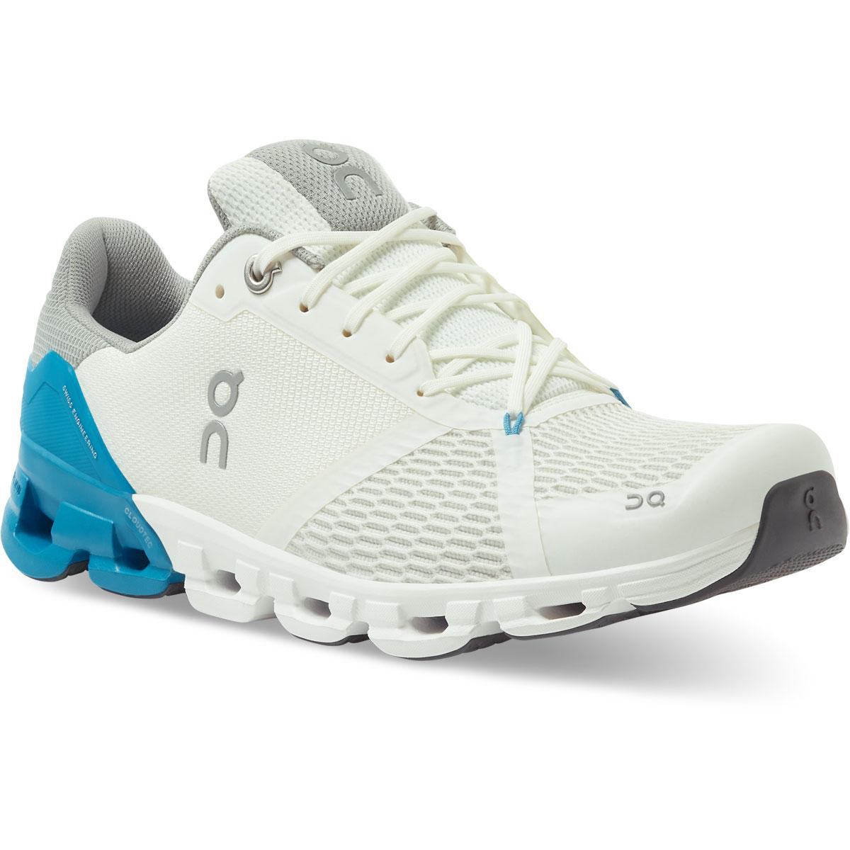 Men's On Cloudflyer 2.0 Running Shoe - Color: White/Blue - Size: 7 - Width: Regular, White/Blue, large, image 2