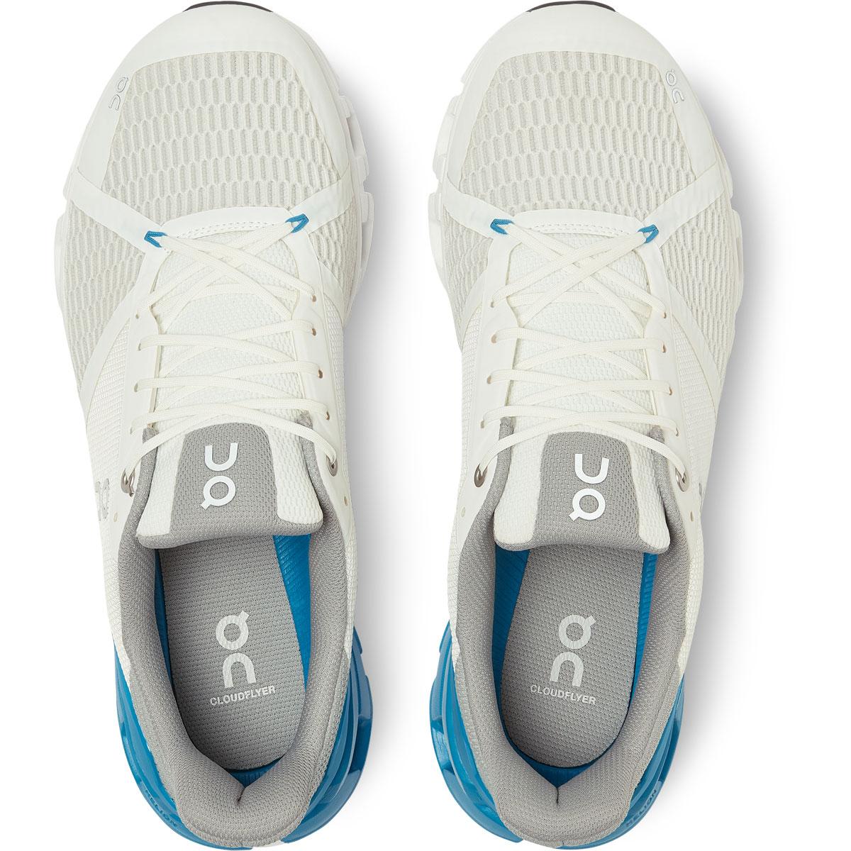 Men's On Cloudflyer 2.0 Running Shoe - Color: White/Blue - Size: 7 - Width: Regular, White/Blue, large, image 4