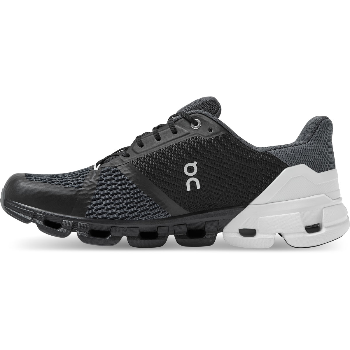Men's On Cloudflyer 2.0 Running Shoe - Color: Black/White - Size: 7 - Width: Regular, Black/White, large, image 3