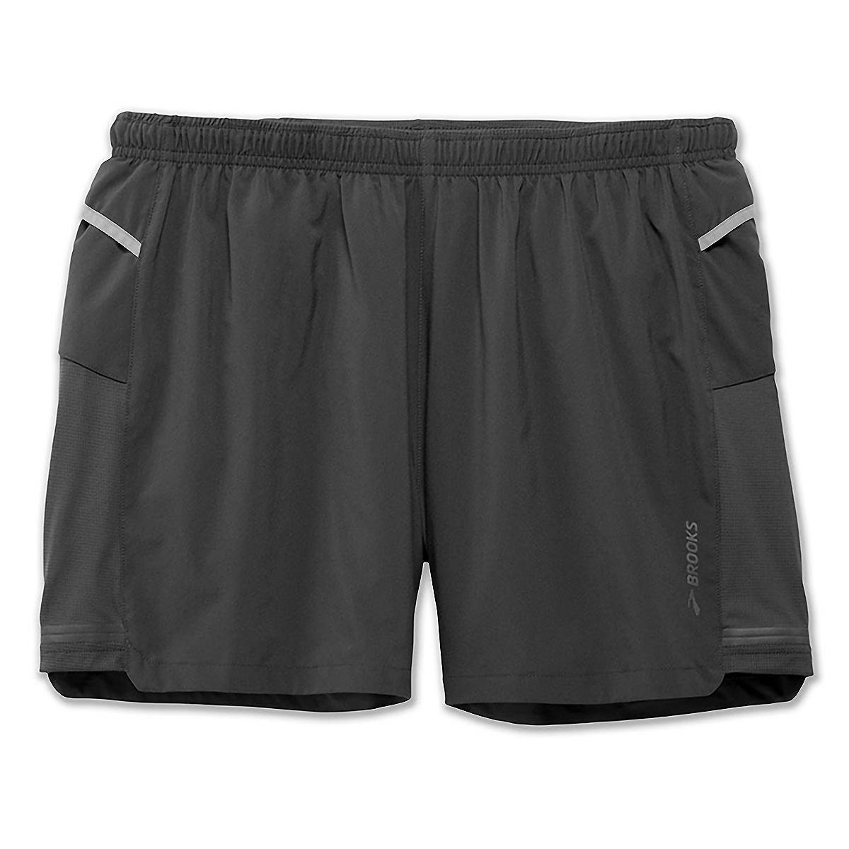 """Men's Brooks Sherpa 5"""" Short - Color: Asphalt - Size: XS, Asphalt, large, image 1"""