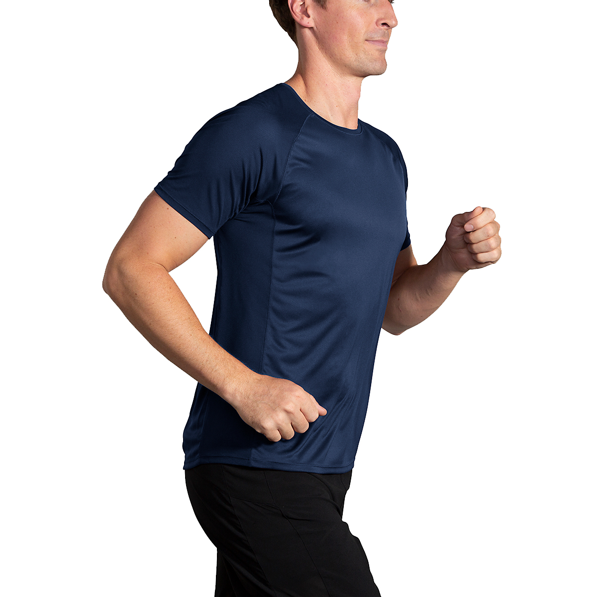 Men's Brooks Stealth Short Sleeve  - Color: Navy - Size: S, Navy, large, image 2
