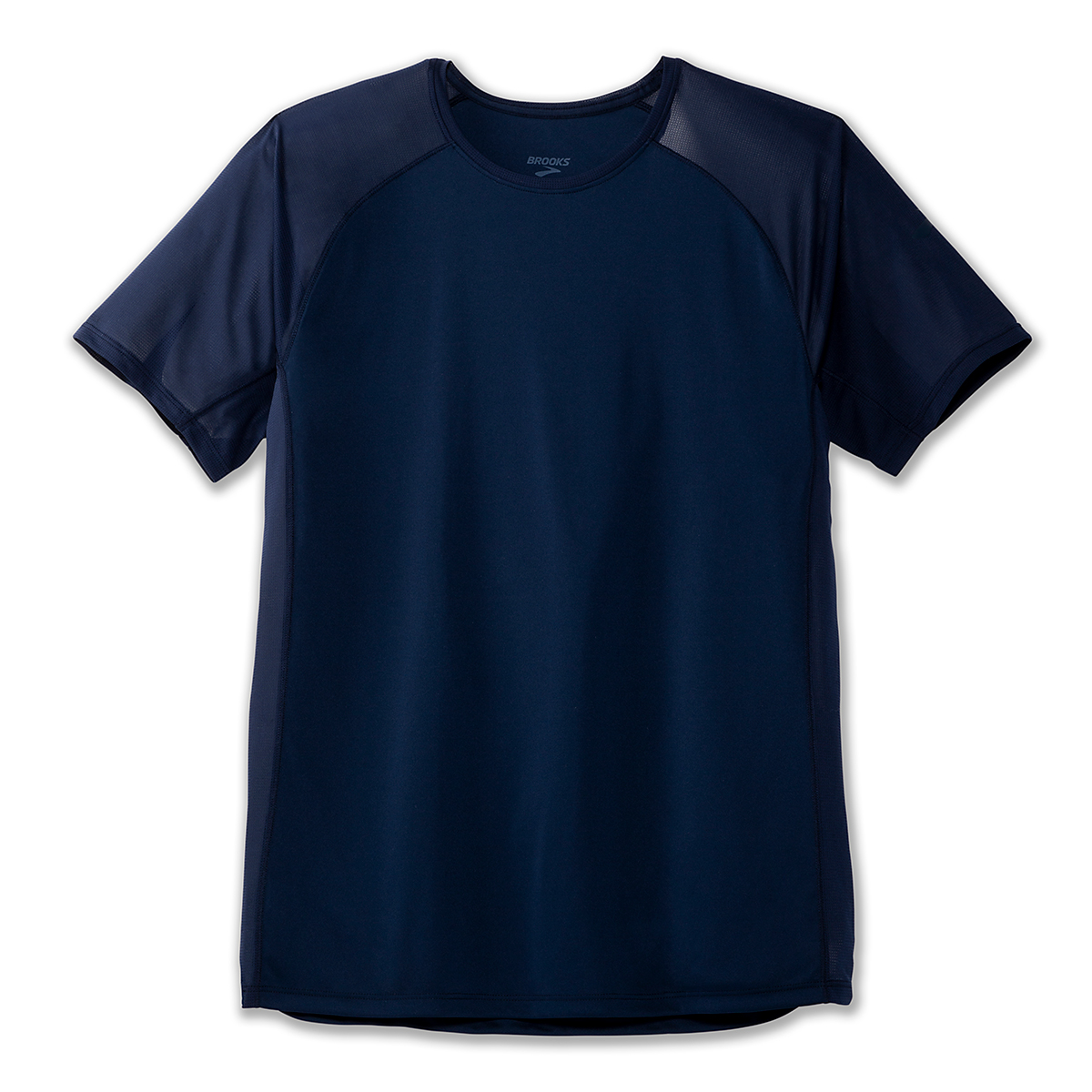 Men's Brooks Stealth Short Sleeve  - Color: Navy - Size: S, Navy, large, image 3