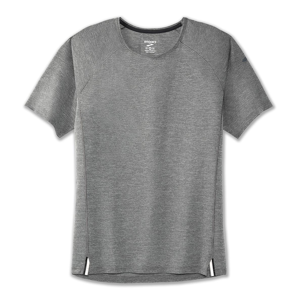 Men's Brooks Ghost Short Sleeve - Color: Heather Asphalt - Size: S, Heather Asphalt, large, image 1