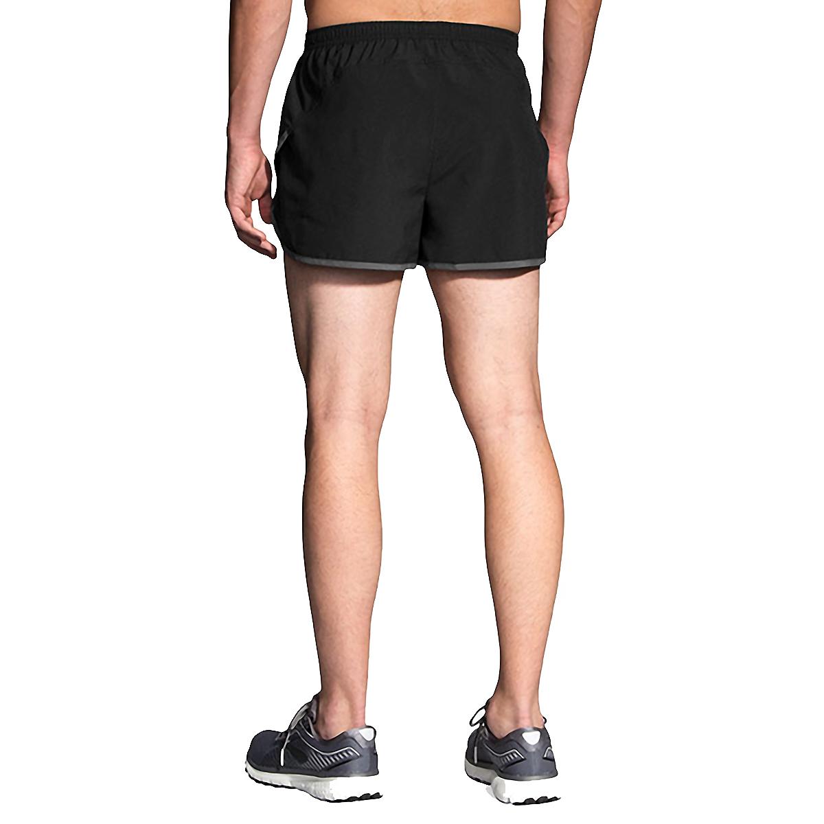 Men's Brooks Hightail 3'' Split Short - Color: Black/Ashpalt - Size: S, Black/Asphalt, large, image 2