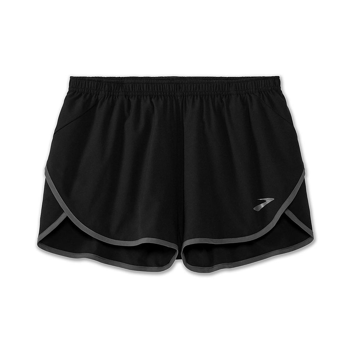 Men's Brooks Hightail 3'' Split Short - Color: Black/Ashpalt - Size: S, Black/Asphalt, large, image 4