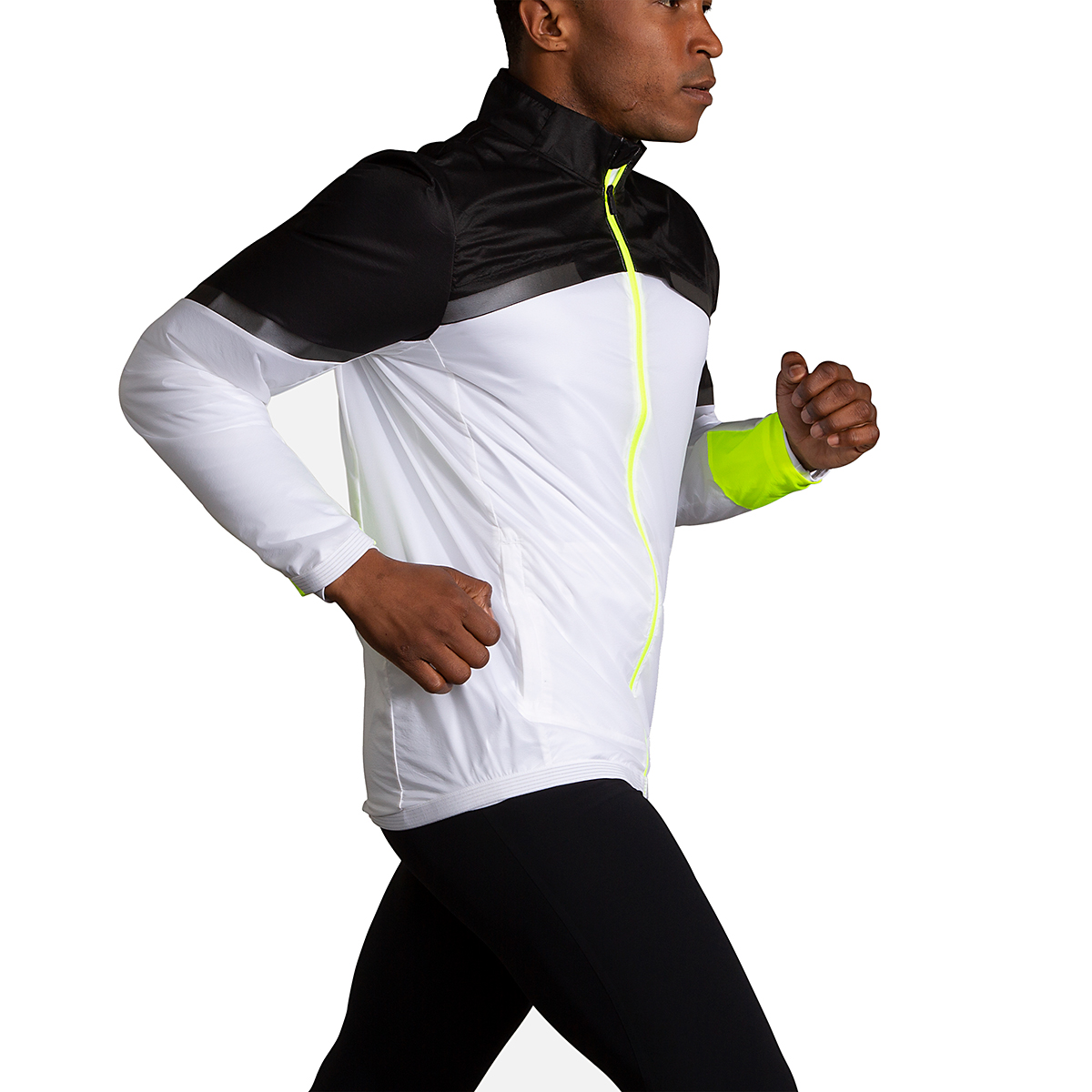 Men's Brooks Run Visible Carbonite Jacket  - Color: Luminosity - Size: S, Luminosity, large, image 2