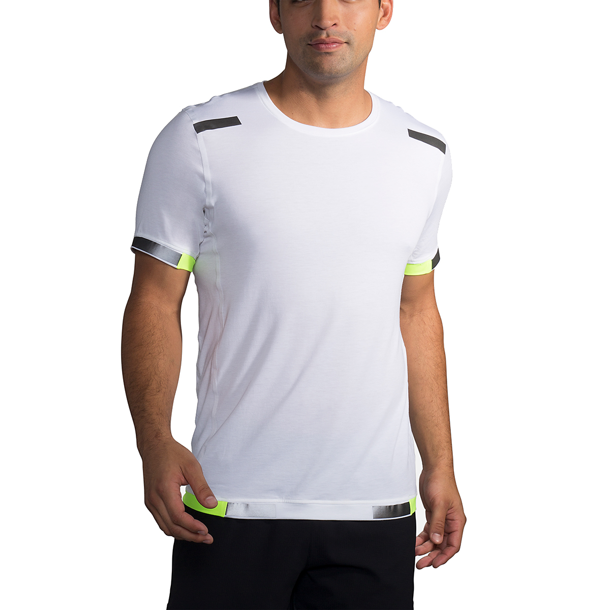 Men's Brooks Run Visible Carbonite Short Sleeve  - Color: Luminosity - Size: S, Luminosity, large, image 1