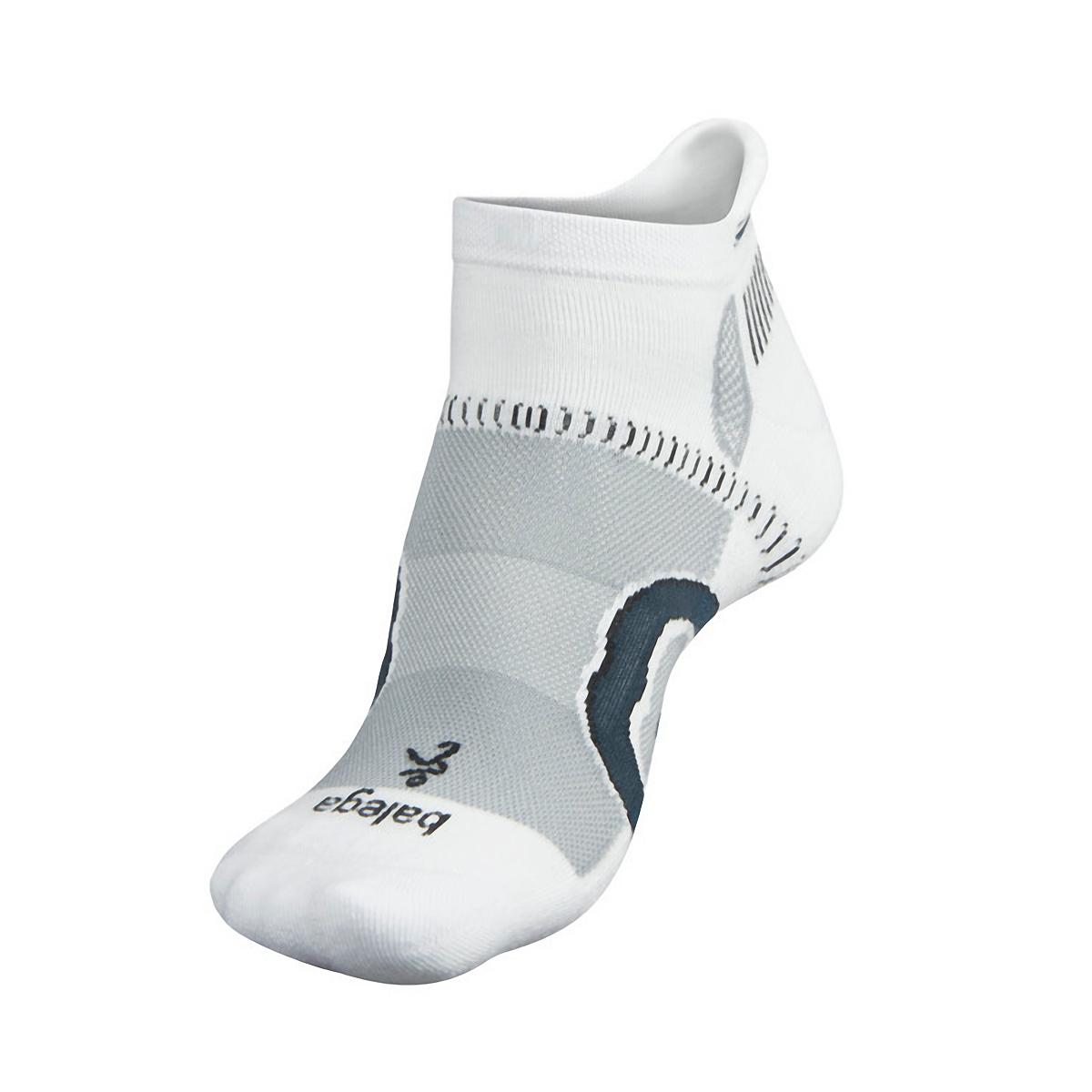 Balega Hidden Contour Socks - Color: White/Grey Size: S, White/Grey, large, image 2