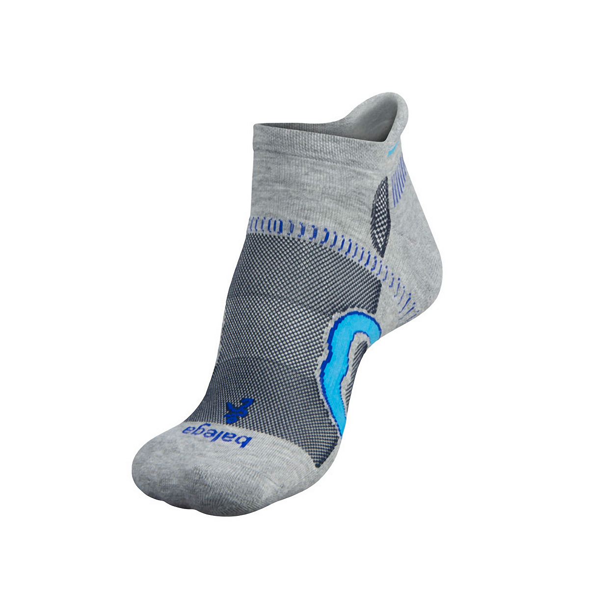 Balega Hidden Contour Socks - Color: Mid Grey/Ink Size: XL, Mid Grey/Ink, large, image 2
