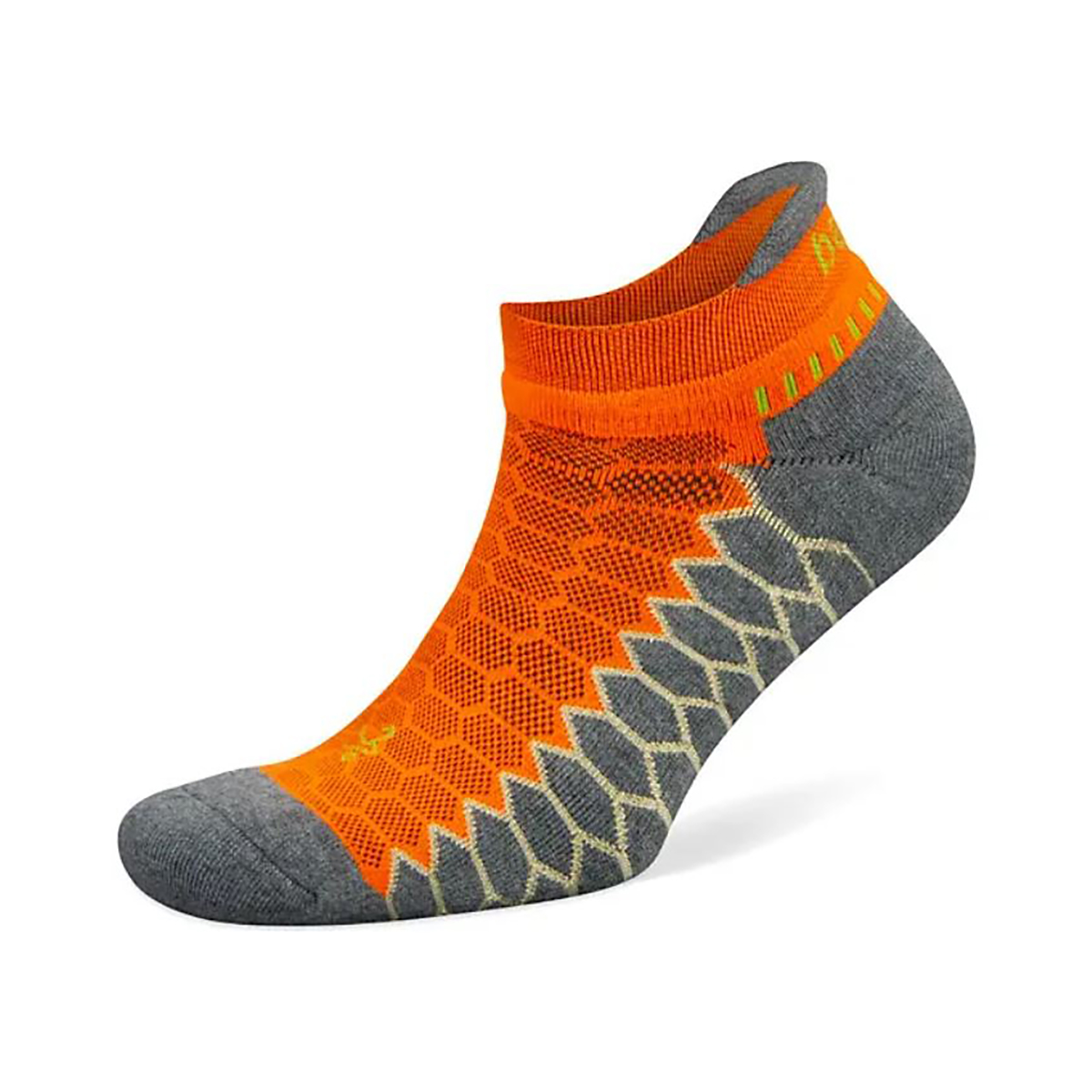 Unisex Balega Silver No Show Socks - Color: Neon Orange/Grey Heather Size: S, Orange, large, image 1