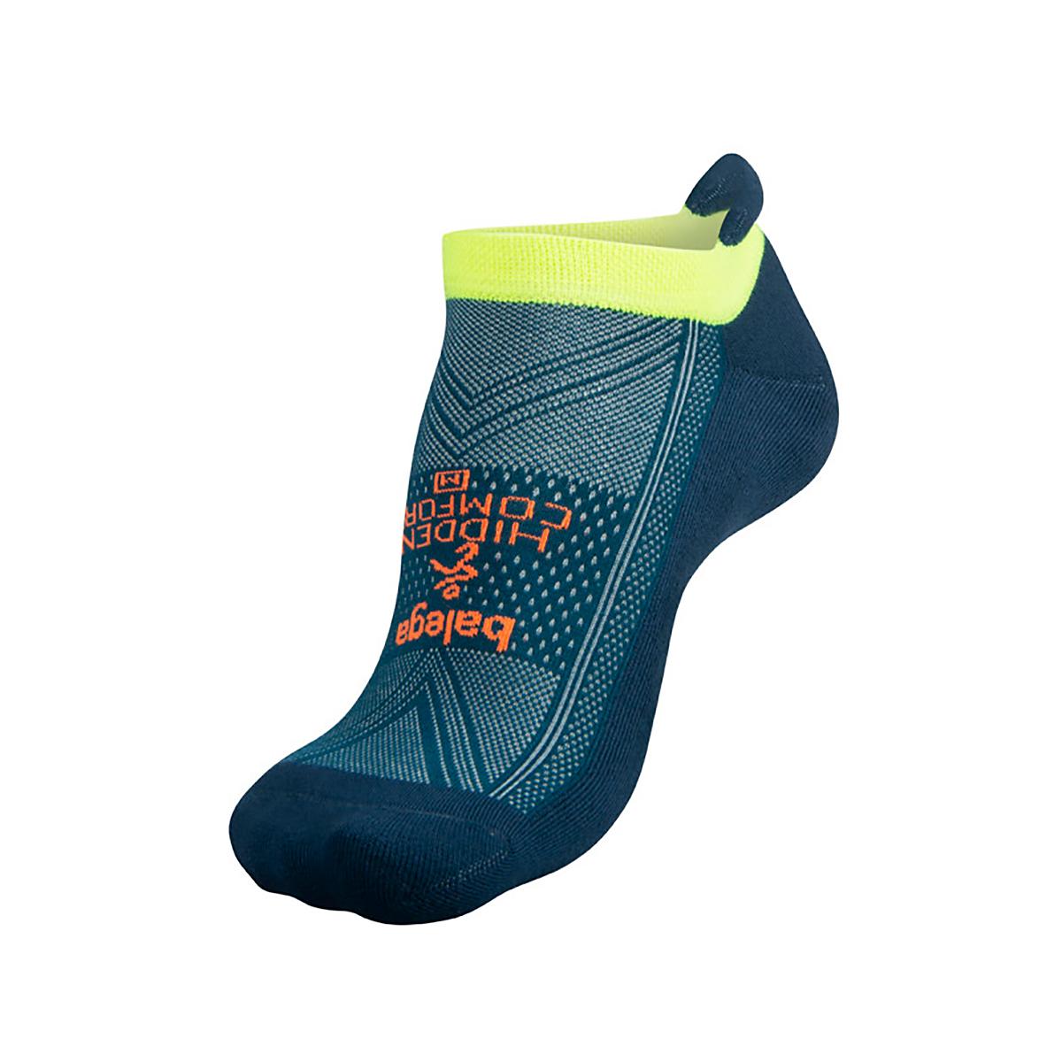 Unisex Balega Hidden Comfort No Show Socks - Color: Legion Blue/Teal Size: S, Blue, large, image 2