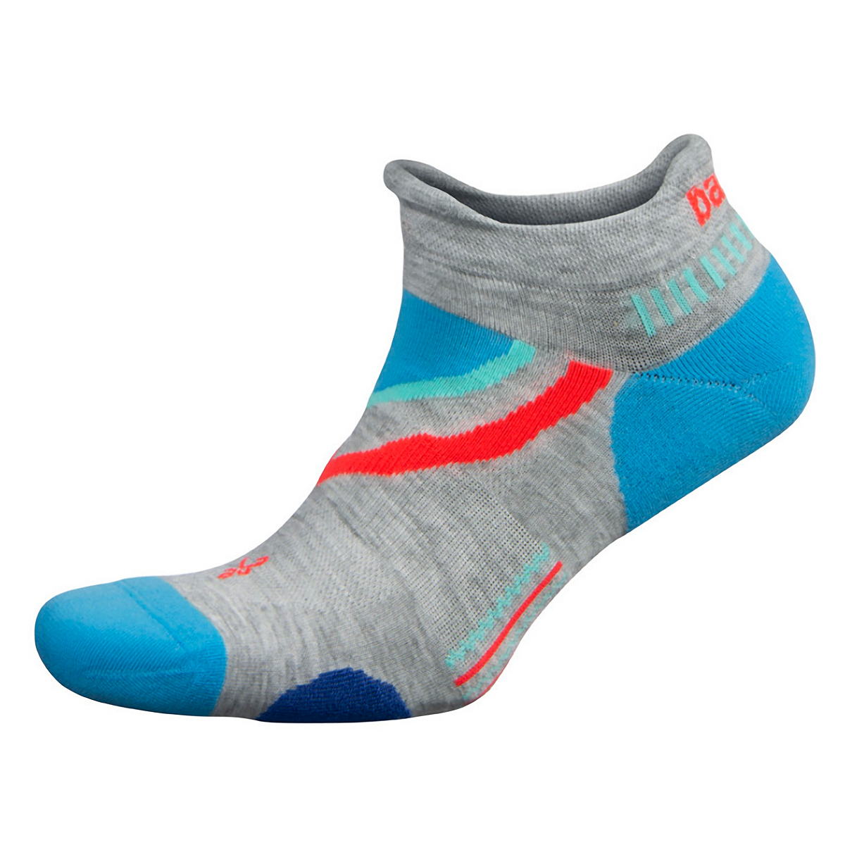 Balega UltraGlide No Show Socks - Color: Mid Grey/Ethereal Blue Size: S, Grey/Blue, large, image 1