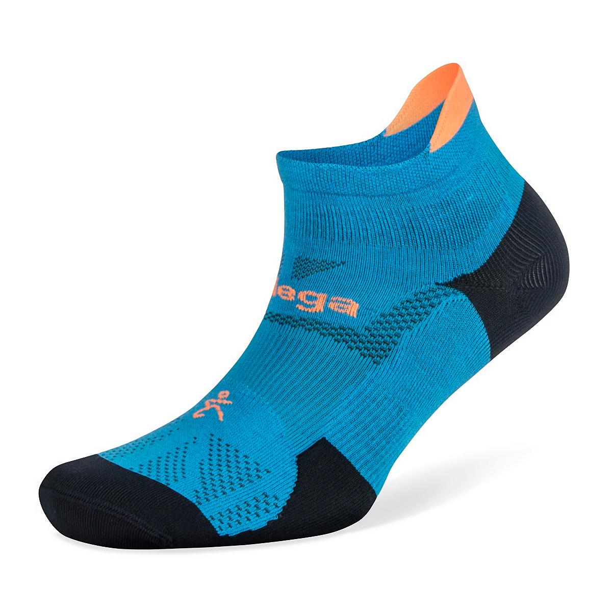 Balega Hidden Dry No Show Socks - Color: Bright Turquoise/Navy - Size: S, Bright Turquoise/Navy, large, image 1