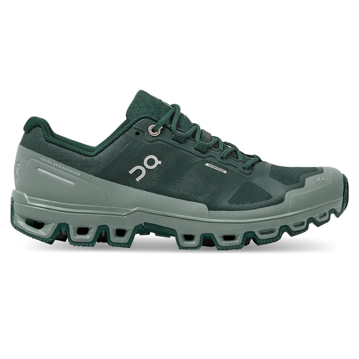 Women's On Cloudventure Waterproof Trail Running Shoe - Color: Juniper/Sea - Size: 5 - Width: Regular, Juniper/Sea, large, image 1