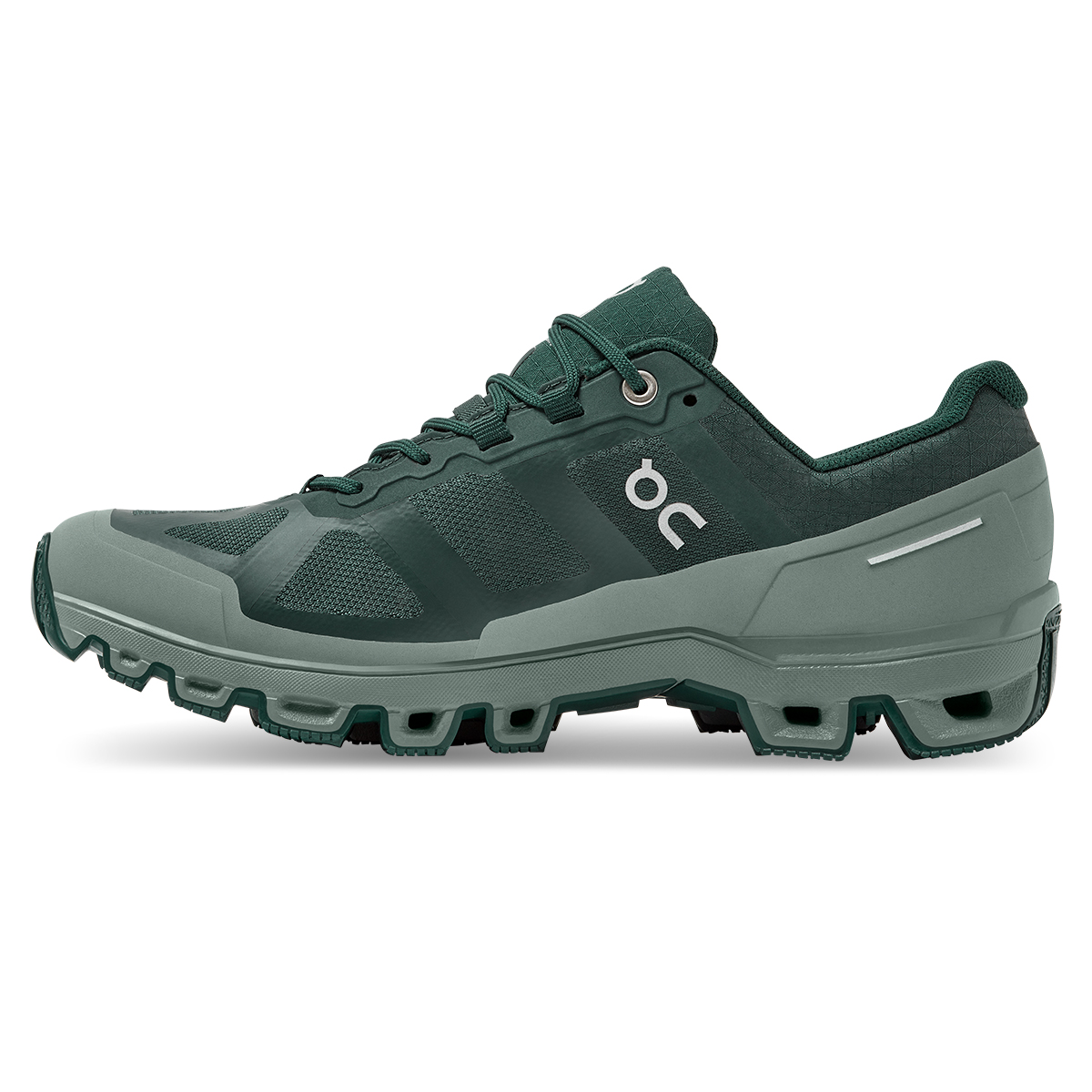 Women's On Cloudventure Waterproof Trail Running Shoe - Color: Juniper/Sea - Size: 5 - Width: Regular, Juniper/Sea, large, image 2