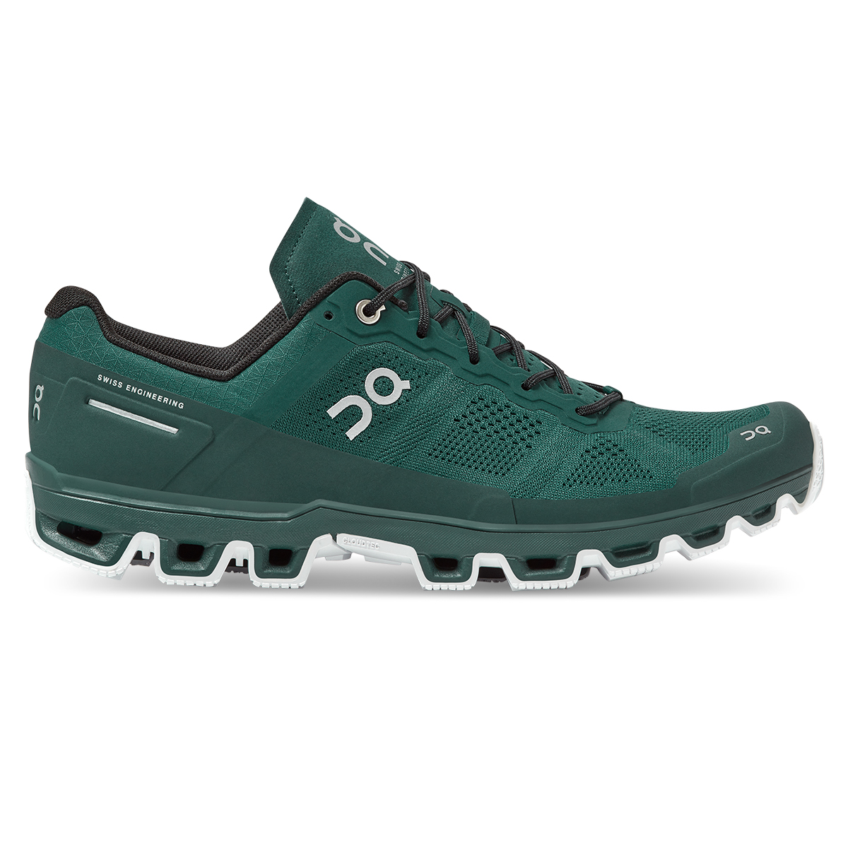 Men's On Cloudventure Running Shoe - Color: Evergreen/White - Size: 7 - Width: Regular, Evergreen/White, large, image 1