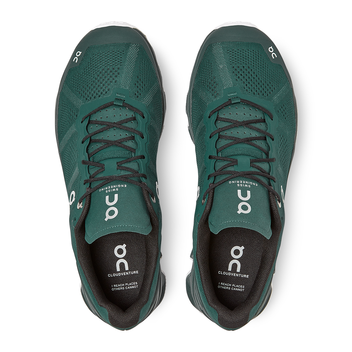Men's On Cloudventure Running Shoe - Color: Evergreen/White - Size: 7 - Width: Regular, Evergreen/White, large, image 3