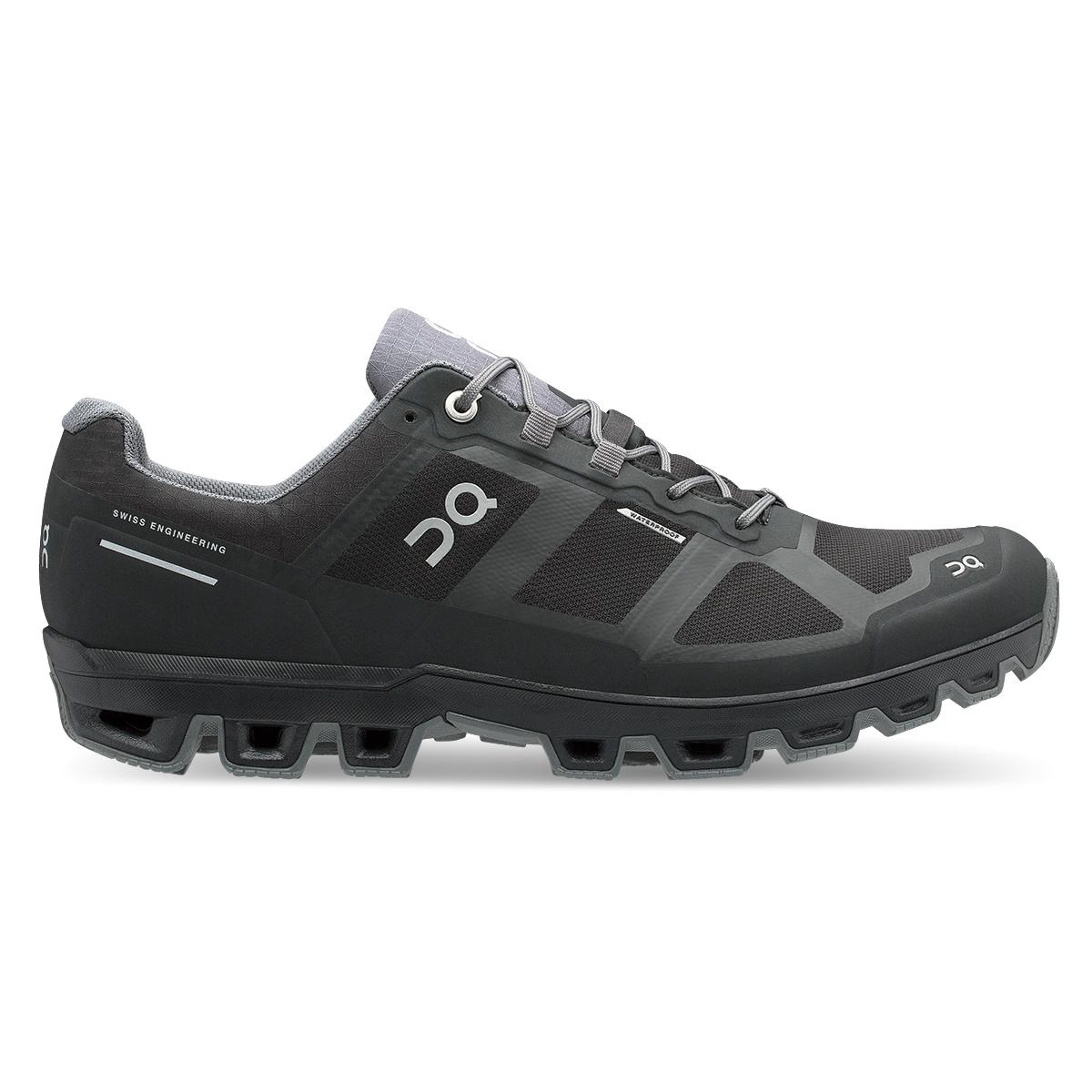 Women's On Cloudventure Waterproof Trail Running Shoe - Color: Black/Graphit - Size: 5 - Width: Regular, Black/Graphit, large, image 1