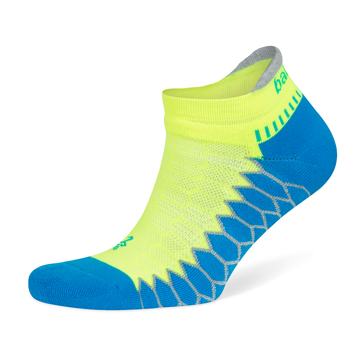 Unisex Balega Silver No Show Socks - Color: Bright Turquoise/Neon Lime Size: S, Blue, large, image 1