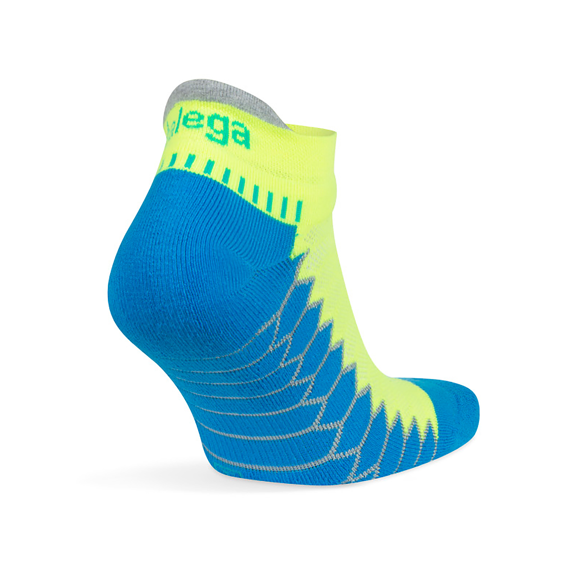 Balega Silver No Show Socks - Color: Bright Turquoise/Neon Lime Size: S, Blue, large, image 3