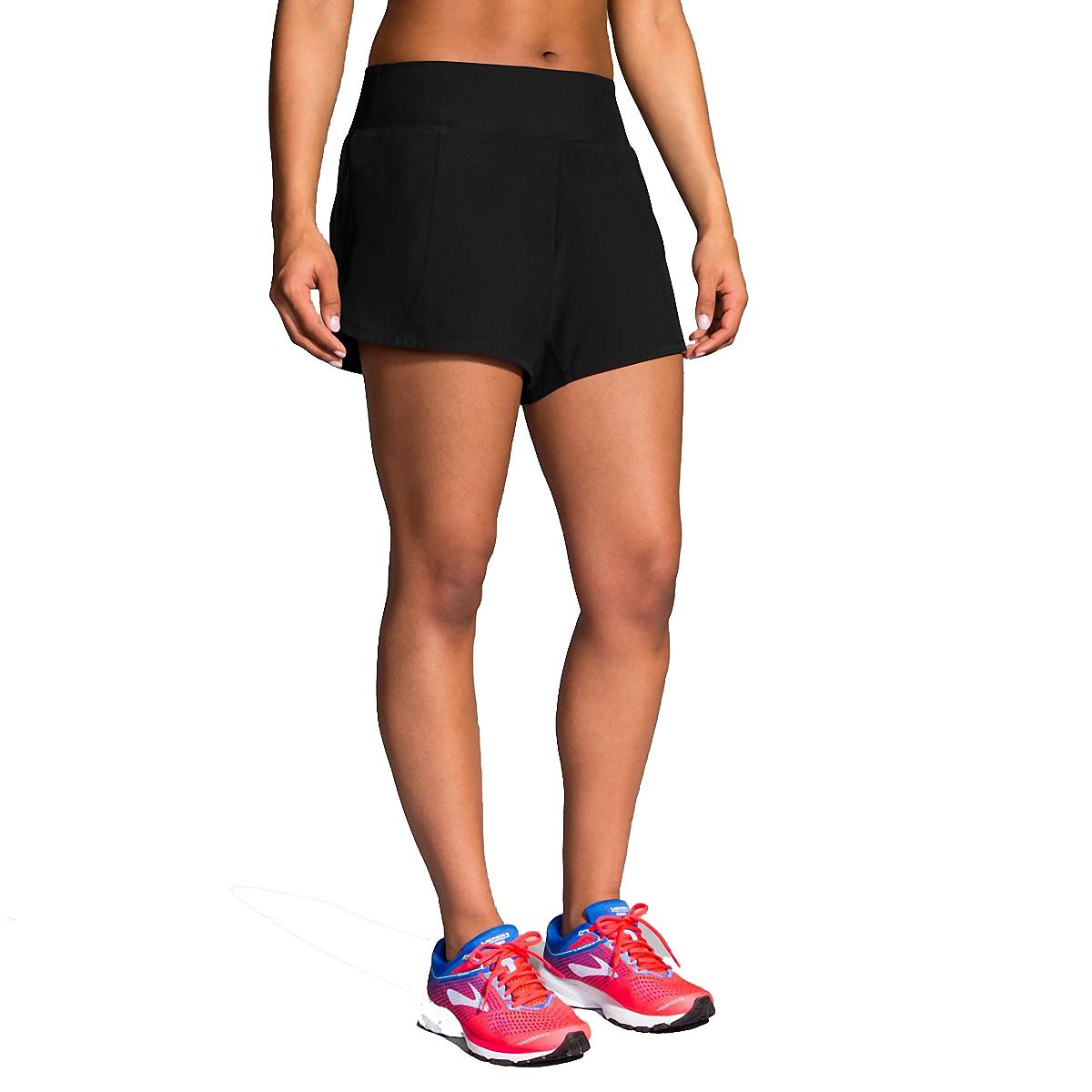 """Women's Brooks Chaser 5"""" Short - Color: Black - Size: S, Black, large, image 1"""