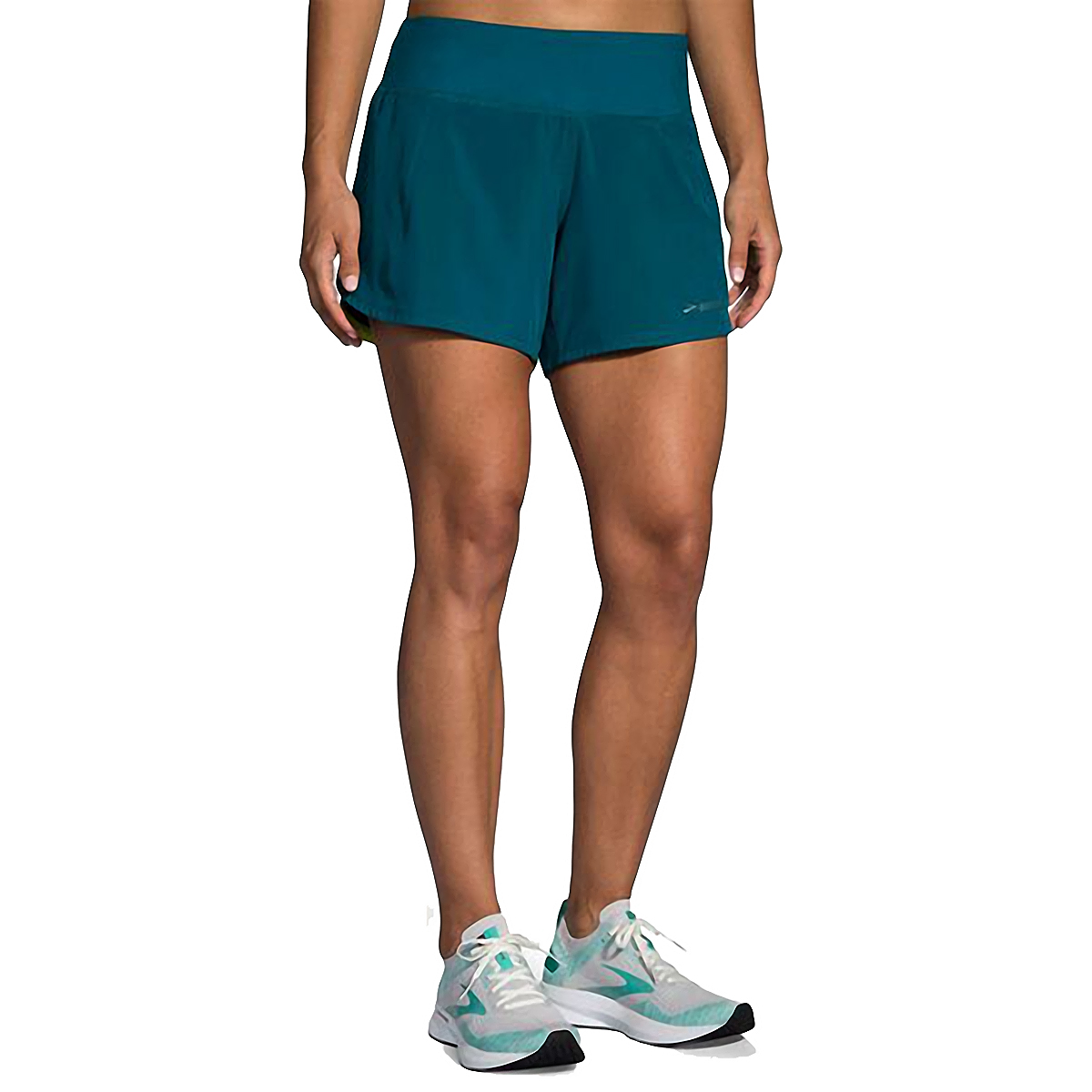 "Women's Brooks Chaser 5"" Short  - Color: Deep Sea - Size: S, Deep Sea, large, image 1"