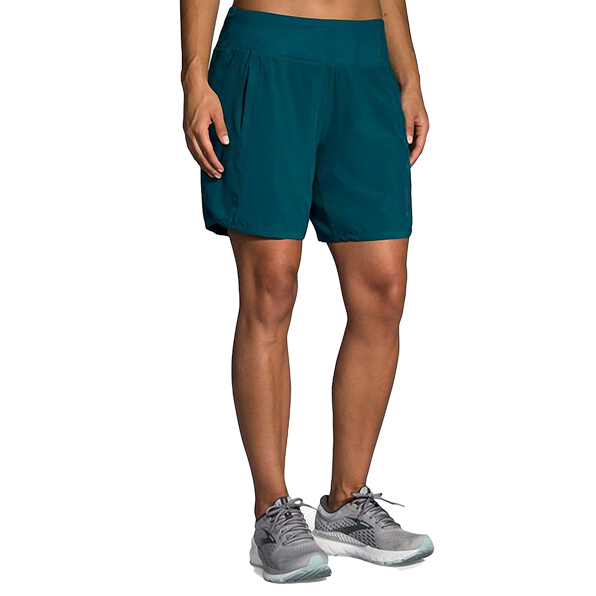 """Women's Brooks Chaser 7"""" Short  - Color: Deep Sea - Size: XS, Deep Sea, large, image 1"""
