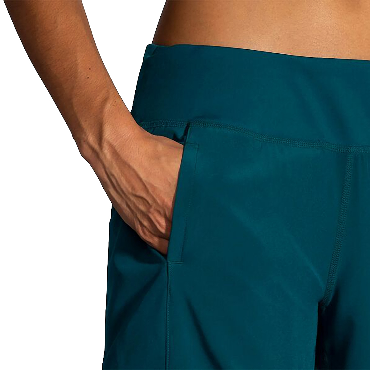 """Women's Brooks Chaser 7"""" Short  - Color: Deep Sea - Size: XS, Deep Sea, large, image 3"""