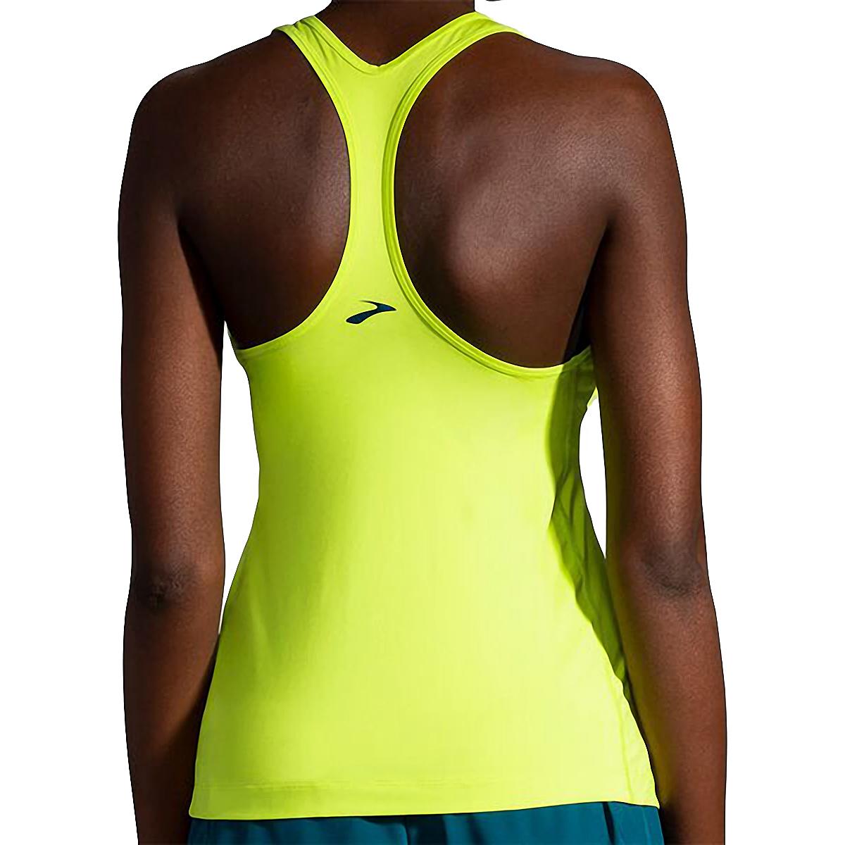Women's Brooks Pick-Up Tank  - Color: Lime - Size: XS, Lime, large, image 2