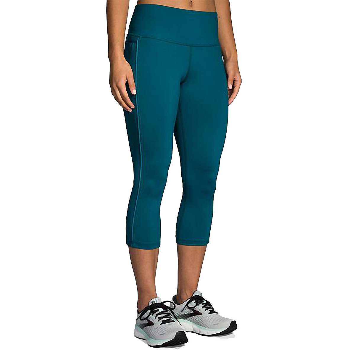Women's Brooks Greenlight Capri  - Color: Deep Sea - Size: XS, Deep Sea, large, image 1