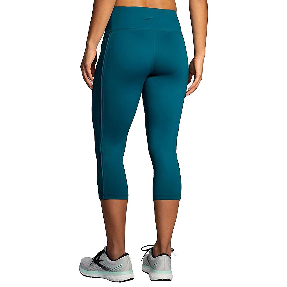 Women's Brooks Greenlight Capri  - Color: Deep Sea - Size: XS, Deep Sea, large, image 2